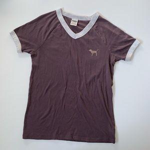 • PINK bling campus shirt •